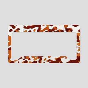 Abstract Pattern: Orange License Plate Holder