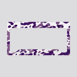 Abstract Pattern: Purple License Plate Holder