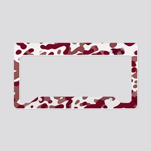 Abstract Pattern: Red License Plate Holder