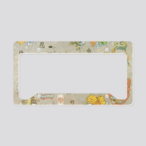 Japanese Collage License Plate Holder
