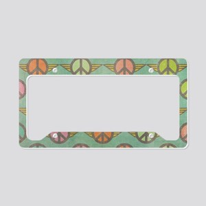 Retro Peace Sign License Plate Holder