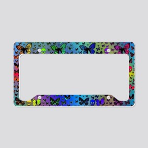 Colorful Skulls & Butterflies License Plate Holder