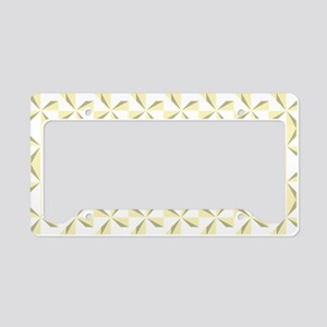 Sage and Cream Pinwheels License Plate Holder