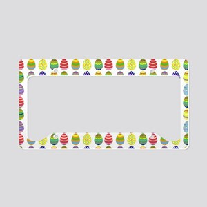 Easter egg pattern License Plate Holder
