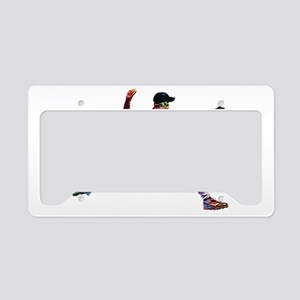 Super Crayon Colored Baseball License Plate Holder