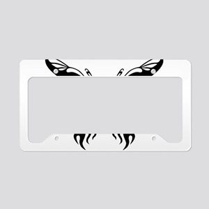 Black and White Butterfly License Plate Holder