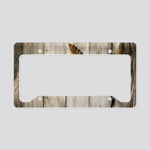 rustic barnwood wild duck License Plate Holder