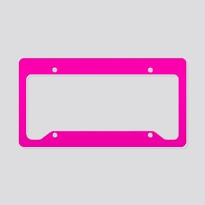 Neon Pink Solid Color License Plate Holder