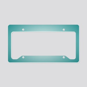 Teal Blue Radial Gradient License Plate Holder