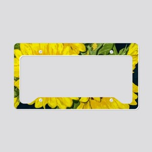 Sunflowers License Plate Holder