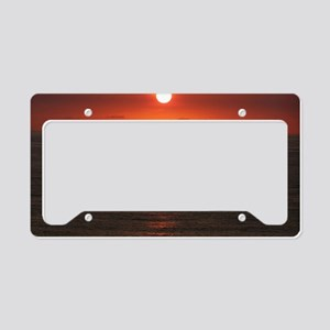 engle sunset5x7 License Plate Holder