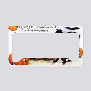 SongOfHalloweenGreetCard-a License Plate Holder