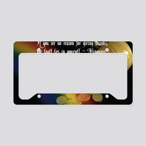 Give Thanks License Plate Holder