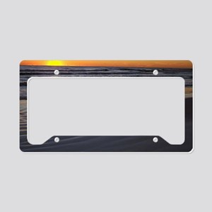 sunset at siesta 5x7 License Plate Holder