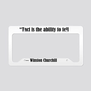 tact:Winston Churchhill License Plate Holder