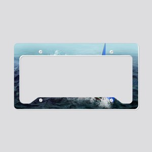Bermuda triangle, conceptual  License Plate Holder