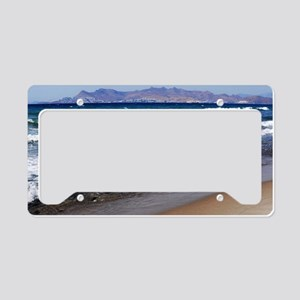 Kos beach License Plate Holder