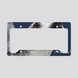 Great Dane Birthday Card License Plate Holder