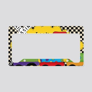 BDAYTRAININVITE3 License Plate Holder
