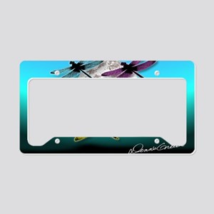 Dragonfly Night moon License Plate Holder