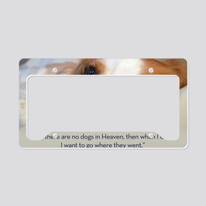 Cavalier King Charles Spaniel License Plate Holder