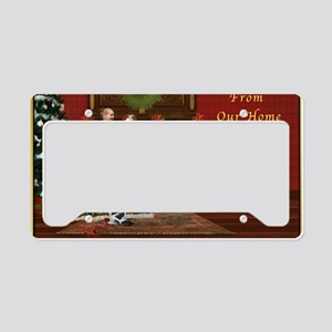 Christmas Card, Vintage Home, License Plate Holder
