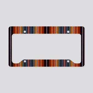 Rusty Blue Stripe License Plate Holder