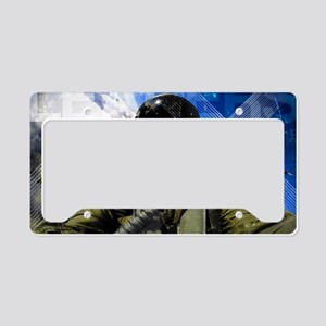 Air Force Grunge Poster: Lead License Plate Holder