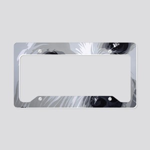 Westie face close License Plate Holder