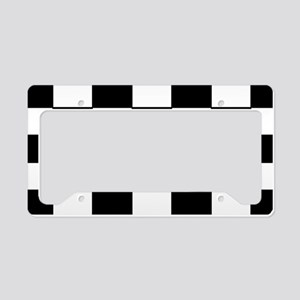 Checkered Pattern License Plate Holder