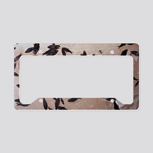 Fossilised fish License Plate Holder