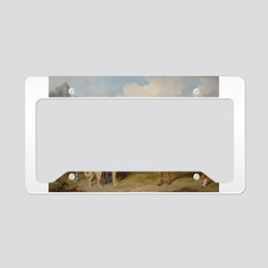 Two Horses and a Deerhound License Plate Holder