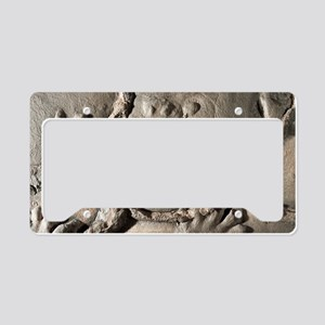 Fossilised Chirotherium footp License Plate Holder