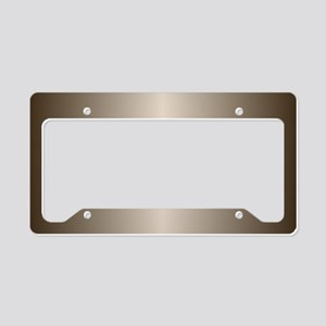 Bronze Metallic Shiny License Plate Holder