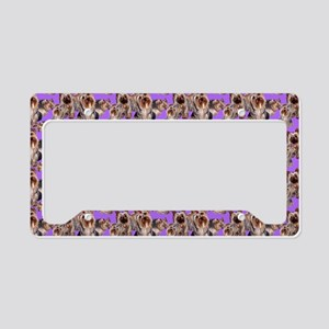yorkshire terrier lavender pi License Plate Holder