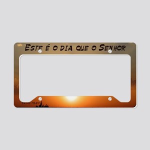 Salmos 118:24 Portuguese License Plate Holder