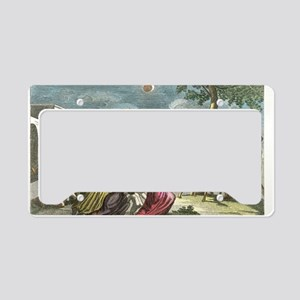 Solar eclipse, Peru, artwork License Plate Holder