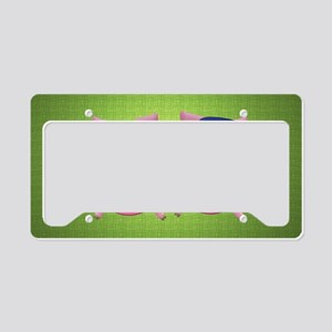Boy and girl piggies License Plate Holder