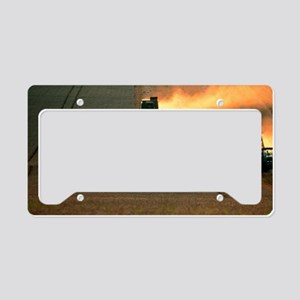 Combine harvesters and tracto License Plate Holder