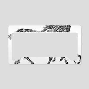 Horse Foal clear License Plate Holder
