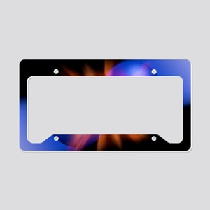 Particle collision, artwork License Plate Holder