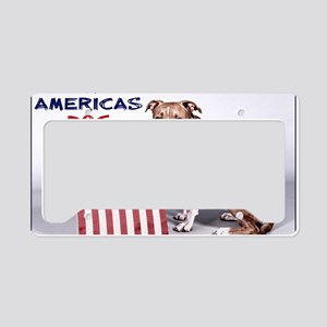 Save Americas Dog License Plate Holder