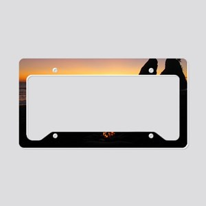 Sunset over Rialto Beach License Plate Holder