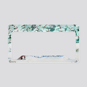Christmas Card 1 12x8 License Plate Holder