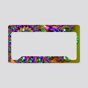 Green and Purple Bokeh Fracta License Plate Holder