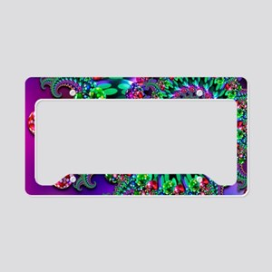 Purple Green and Red Bokeh Fr License Plate Holder