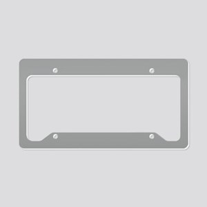 Heather Gray Solid Color License Plate Holder