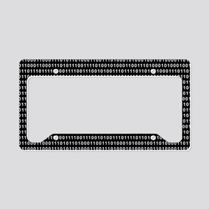 Binary Code 010 DOS License Plate Holder