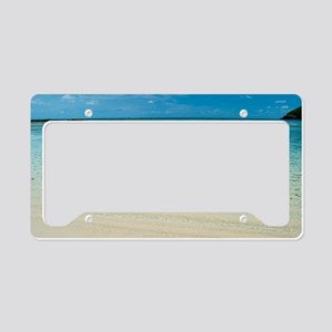 Pretty shallow tropical cove License Plate Holder
