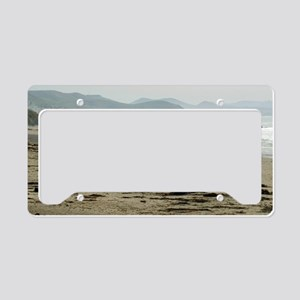 Seascape towards morro bay License Plate Holder
